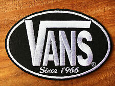 VANS Black Rock Band Iron On Sew Applique Embroidered Patch.