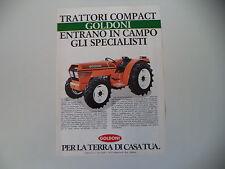 advertising Pubblicità 1986 TRATTORI GOLDONI COMPACT 654