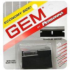 10 Gem Single Edge Super Stainless Steel Blades 1-10-Pack