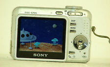 Sony Cyber-shot DSC-S700 7.2 MP Digital Camera - Silver, w/ strap working fine!