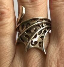 Fantastic Vintage Silver 925 Ring Dragon Wing Size Q/R