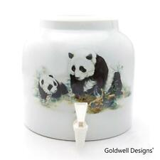 Goldwell Designs® Cute Panda Cub Porcelain Water Dispenser Crock (DD106)
