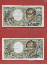 Lot de 2 x 200 FRANCS MONTESQUIEU de 1981 & 1982 ALPHABETS C.004  H009