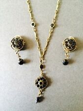 VINTAGE KENNY MA SAN FRANCISCO NECKLACE EARRING  JEWELLERY SET