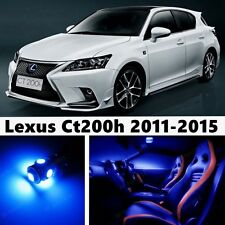 10pcs LED Blue Light Interior Package Kit for Lexus Ct200h 2011-2015