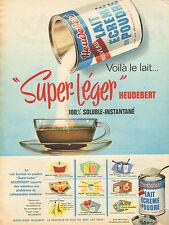 Publicité 1961  HEUDEBERT lait écrémé en poudre