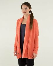 Lululemon Post Practice Cardi cardigan Size 8  color plum peach