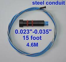 """Steel Conduit Liner 15-ft Tweco Lincoln MIG Welding Guns Wire Size 0.023""""-0.035"""""""