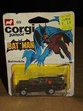 VINTAGE RARE TOY 1976 THE METTOY CO GREAT BRITAIN CORGI JUNIOR BATMAN BATMOBILE