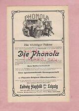LEIPZIG, Werbung 1907, Ludwig Hupfeld AG Die Phonola Hausmusik