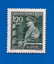 1944 Nazi Germany 3rd Third Reich B&M Hitler in Mercedes car birthday stamp MNH