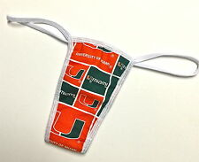 NEW U OF MIAMI SEXY/PANTY/THONG SOFT COTTON LINED MED/LRG 36-38 INCH  HIP