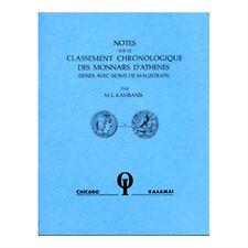 Sur Le Classement Chronologique des Monnaies D'Athenes     (SD165)