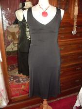 Miss SIXTY-mozzafiato Slinky Dress nero con dettaglio posteriore Stringa Profondo - 12-14