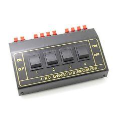 4zone Speaker Selector Switch Switcher Splitter 200Watt