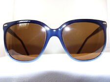 Vintage Maui Jim Navy Blue Sunglass Frame with POLARIZED Brown 75% Lenses