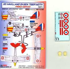 KORA Decals 1/72 DE HAVILLAND D.H.82 TIGER MOTH French Service