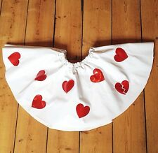 Thecreepsstore : Love Heart Red Glitter Pvc Skater Skirt / S M 8 10 12 / Kawaii
