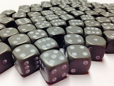 Hobby Marine Space Chaos MTG Wargames BNIB 12mm Opaque Light Grey Dice D6 x 50