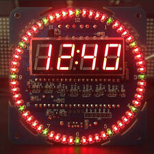 Rotating LED Display Digital Alarm Clock Temperature Module DS1302 Electronic