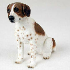 POINTER BROWN WHITE DOG Figurine Statue Hand Painted Resin Gift Pet Lovers