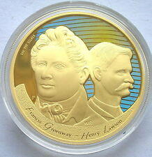 Australia 2006 Figures of Note Dollar Gold Plated 1oz Silver Coin,Proof