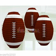 FOOTBALL PAPER LANTERNS (3) ~ Sports Birthday Party Supplies Decorations NFL