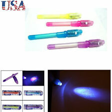 4Pcs Hot Invisible Ink Pen with Built in UV Light Magic Marker Secret Message US