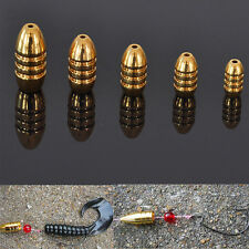 Fishing Sinkers Bullet Shape Copper Kit Tackle Hot 5 Pcs 1.8/3.5/5/7/10g EW