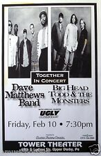 DAVE MATTHEWS BAND / BIG HEAD TODD 1995 PHILADELPHIA TOUR POSTER