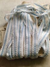 Vintage Trim Blue Tape Ribbon 5 yd Vintage Wedding & Dolls Old New Stock