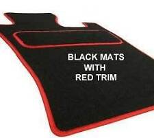LHD BMW E46 Coupe Tailored fitted custom made Car Floor Mats Black &Red trim