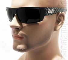 LOCS Authentic Sunglasses Super Dark OG Gangster Style Cholo Criss Cross 91025