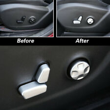 6PC Chrome Seat Adjustment Button Cover Trim Fit For 2013-2016 Jeep Cherokee