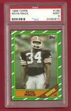 1986 TOPPS #188 KEVIN MACK ROOKIE RC PSA 9 MINT LOW POP BROWNS TECMO BOWL LEGEND