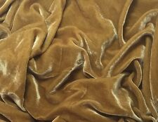 "Silk VELVET Fabric GOLD fat 1/4 18""x22"" remnant"