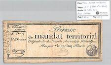 MANDAT TERRITORIAL - 25 FRANCS (SANS LE N° DE SERIE) 28 VENTOSE AN 4 JULLIEN