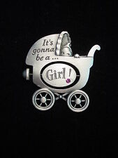 """JJ"" Jonette Jewelry Silver Pewter NEW MOM 'It's A Girl ~ Boy' Baby Pin"