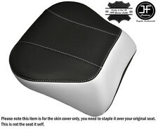 WHITE & BLACK CUSTOM FITS HARLEY BRAKEOUT 13-16 SUNDOWNER REAR SEAT COVER