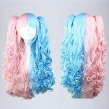 New Lolita With Two Ponytails color mixed Hot Dual Color Performanc Cosplay Wigs