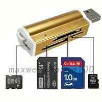 USB 2.0 All in 1 Memory Card Reader for Micro SD MMC SDHC TF M2 Memory Card Tool