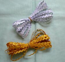 Ric Rac - Metallic Gold and Silver 7mm  (No 2)
