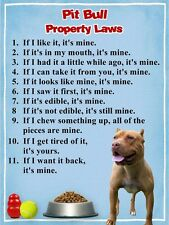 PIT BULL Property Laws Dog Magnet #3