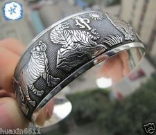 New Tibetan Tibet Silver The sun Elephant Bangle Cuff Bracelet #5