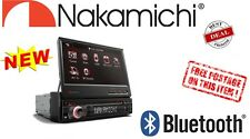 "Nakamichi NA1800 1Din w/ 7"" Touch Screen Bluetooth Car DVD MP3 Player In-Dash"