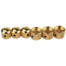 Dual Concentric Pot Control Stacked Knobs for Electric Guitar 3Pcs Metal