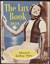 THE LUX ( TOILET SOAP ) BOOK 1939 : ADVANCED KNITTING STYLES vintage fashion  lo
