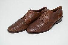 MENS HAYES&BUTLAR FORMAL WICKER SHOES 100 % GENUINE LEATHER BROWN 44 UK 9.5 EXC