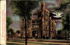 Chicago USA postcard ~1920/30 Potter Palmer Residence by night Lake Shore Drive