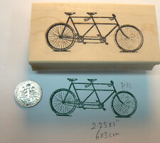 Tandem bike  WM rubber stamp Vintage P11